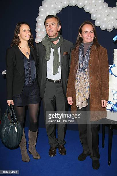 Christophe Malavoy his wife Isabelle and his daughter Camille attend the 'Mamma Mia ' Paris premiere at Theatre Mogador on October 28 2010 in Paris...