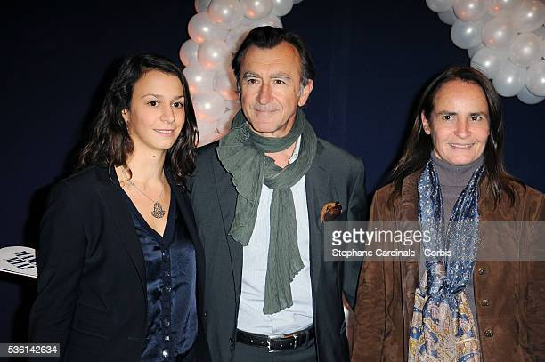 Christophe Malavoy his wife Isabelle and his daughter Camille attend the premiere of Mamma Mia at Theatre Mogador in Paris