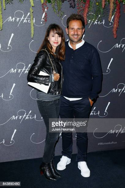 Christophe Michalak and Delphine McCarty attend the French Premiere of mother at Cinema UGC Normandie on September 7 2017 in Paris France