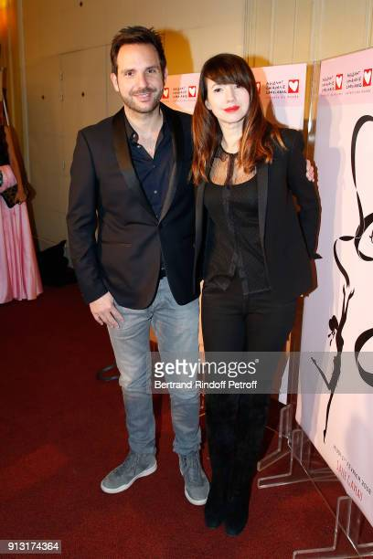 Christophe Michalak and his wife Delphine McCarty attend the Heart Gala Evening to benefit the Mecenat Chirurgie Cardiaque at Salle Gaveau on...