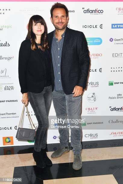 Christophe Michalak and his wife Delphine McCarty attends the Prix De La Femme D'Influence De L'Annee at Palais Brongniart on November 25 2019 in...