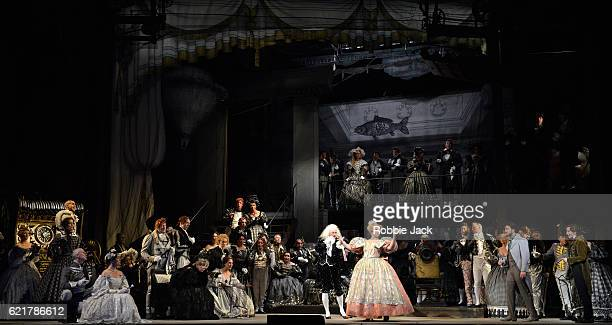 Christophe Mortagne as Spalanzani Sofia Fomina as Olympia Vittorio Grigolo as Hoffmann Kate Lindsey as Nicklausse with artists of the company in...