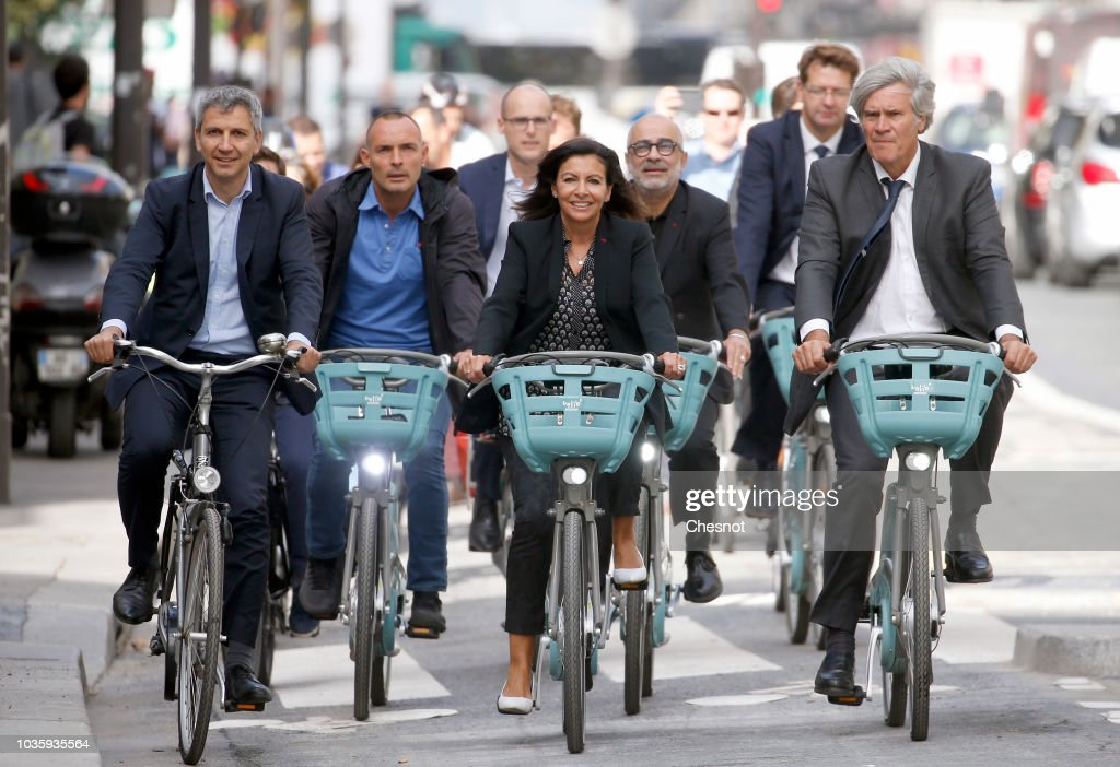 "Paris Mayor Anne Hidalgo Opens ""The  Réseau Express Vélo"" In Paris"