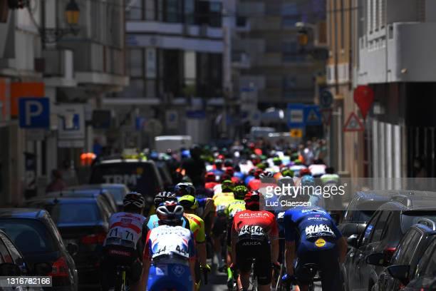 Christophe Noppe of Belgium and Team Arkéa - Samsic, Bert Van Lerberghe of Belgium and Team Deceuninck - Quick-Step & The Peloton at start in Faro...