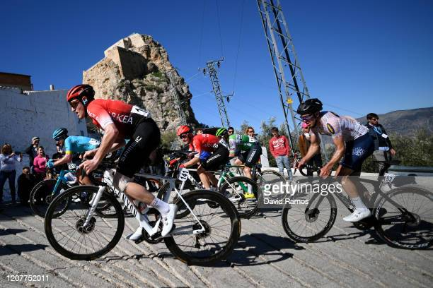 Christophe Noppe of Belgium and Team Arkéa Samsic / Dmitry Gruzdev of Kazakhstan and Astana Pro Team / Thomas Boudat of France and Team Arkéa Samsic...