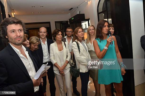 Christophe Ono Dit Bio Claire Chazal Christine Orban Adelaide de Clermont Tonnerre and Myriam Kournaf attend the 'Montalembert Literary Awards 2013'...