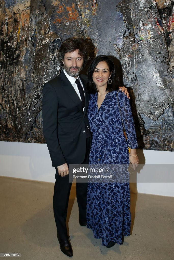 Christophe Ono-dit-Biot and Alina Gurdiel attend the 'Fur Andrea Emo' Anselm Kiefer's Exhibition at Thaddeus Ropac Gallery on February 10, 2018 in Paris, France.