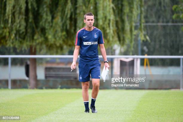 Christophe Ott of Paris Saint Germain during a training session of Paris Saint Germain at Bougival on July 25 2017 in Paris France