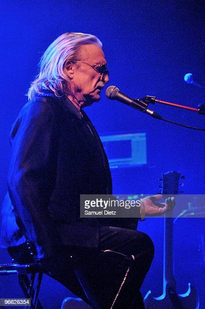 Christophe performs live on stage at the Theatre de Chelles on February 12 2010 in Chelles France
