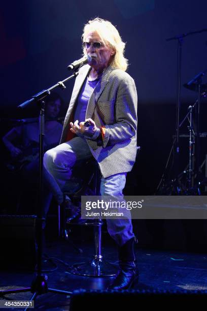 Christophe performs on stage during the 50th anniversary celebration of french radio France Inter at La Gaite Lyrique on December 8 2013 in Paris...