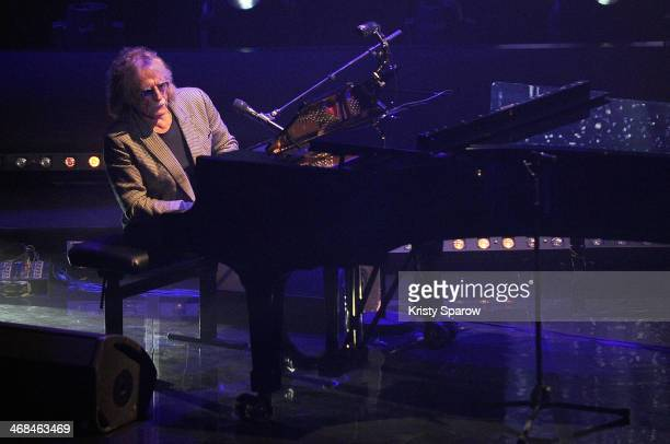 Christophe performs onstage during the La Nuit De La Deprime 2 at L'Olympia on February 10 2014 in Paris France