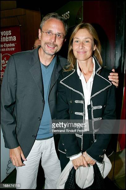 Christophe Rossignon and Nathalie Bloch Laine premiere of the movie Je vais bien ne t'en dais pas by Philippe Lioret at the Gaumont cinema on the...