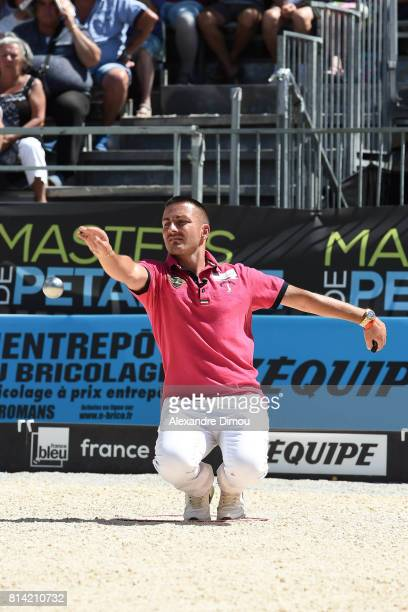 Christophe Sarrio competes during the Masters of Petanque 2017 on July 13 2017 in RomanssurIsere France