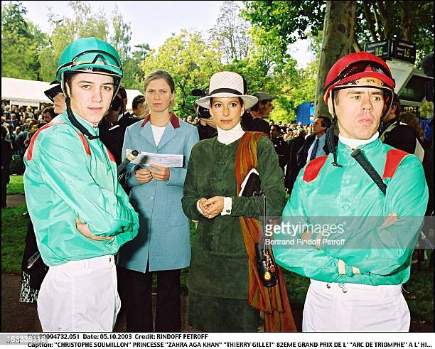 Christophe Soumillon Princess Zahra Aga Khan Thierry Gillet 82nd Grand Prix of the Arc De Triomphe at the racecourse of Longchamp