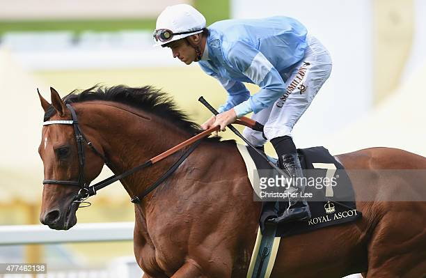 Christophe Soumillon riding Spielberg in The Prince of Wales's Stakes during Day 2 of Royal Ascot 2015 at Ascot Racecourse on June 17, 2015 in Ascot,...