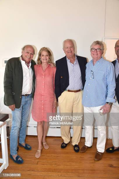 """Christophe von Hohenberg, Kirsten Fisk, Averell Fisk and King Harris attend the release of Christophe von Hohenberg's new book """"The White Album of..."""
