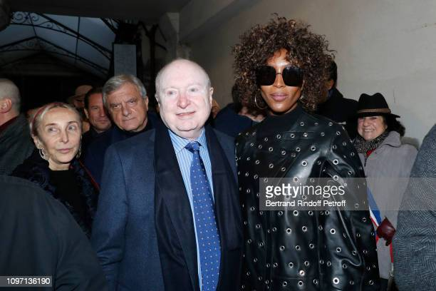 Christophe Von Weyhe Carla Sozzani Naomi Campbell attend the Tribute To Azzedine Alaia as part of Paris Fashion Week on January 20 2019 in Paris...