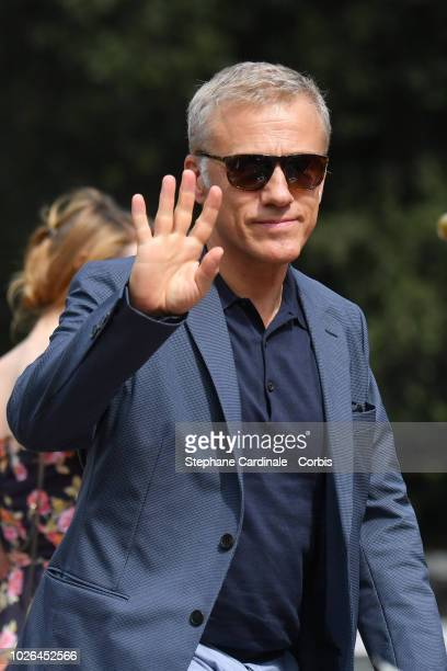 Christophe Waltz is seen arriving at the 75th Venice Film Festival on September 3 2018 in Venice Italy