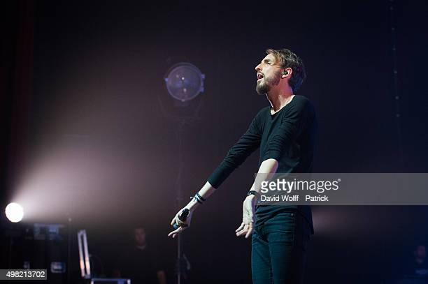 Christophe Willem performs at L'Olympia on November 21, 2015 in Paris, France.