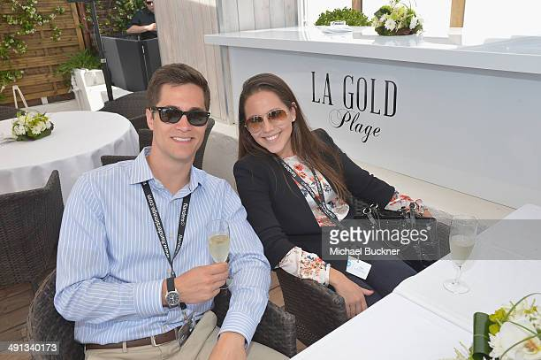 Christophe Wittine and Arianne Tavares attend Deadline's Cocktails on the Croisette in partnership with AmericanExpress and Film Fraternity at La...