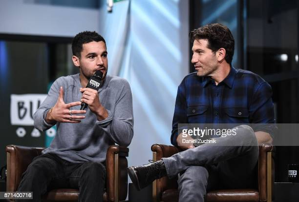 Christopher Abbott and Jon Bernthal attend the Build Series to discuss the new film 'Sweet Virginia' at Build Studio on November 7 2017 in New York...