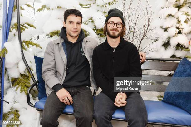 Christopher Abbott and Nicolas Pearce attend as Grey Goose Blue Door hosts the casts of gamechanging films during the Sundance Film Festival at The...