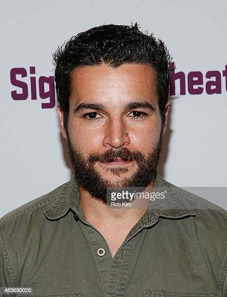 Christopher Abbott attends the opening night party for John at Signature Theatre Company's Pershing Square Signature Center on August 11 2015 in New...
