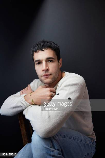 Christopher Abbott from the film 'Piercing' poses for a portrait at the YouTube x Getty Images Portrait Studio at 2018 Sundance Film Festival on...