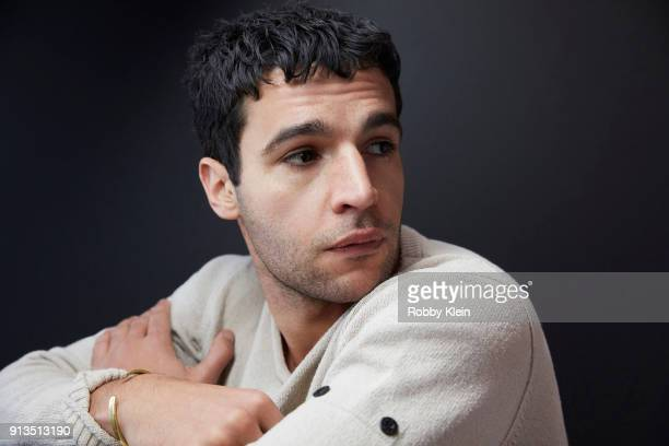Christopher Abbott from the film 'Piercing' poses for a portrait in the YouTube x Getty Images Portrait Studio at 2018 Sundance Film Festival on...