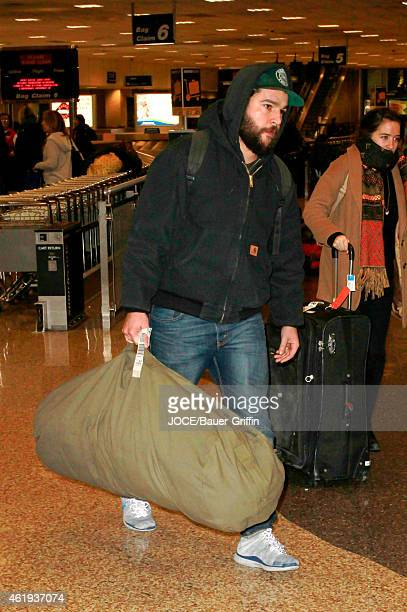 Christopher Abbott is seen at Salt Lake City airport on January 21 2015 in Park City Utah