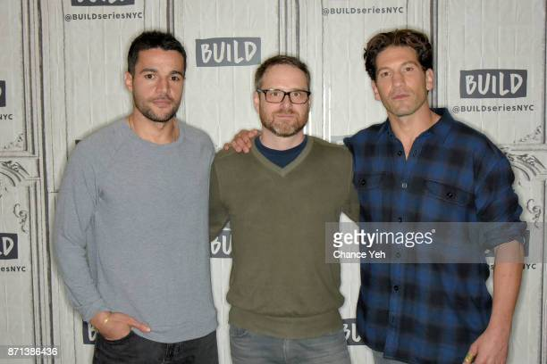 "Christopher Abbott, Jamie M. Dagg and Jon Bernthal attend Build series to discuss ""Sweet Virginia"" at Build Studio on November 7, 2017 in New York..."