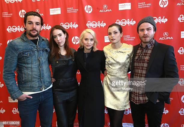 Christopher Abbott Stephanie Ellis Mona Fastvold Gitte Witt and Brady Corbet attend 'The Sleepwalker' Premiere during the 2014 Sundance Film Festival...