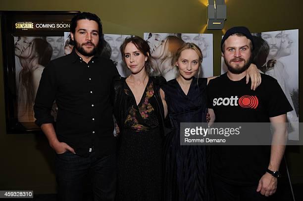 Christopher Abbott Stepphanie Ellis Mona Fastvold and Brady Corbet attend 'The Sleepwalker' New York Premiere at Sunshine Landmark on November 20...