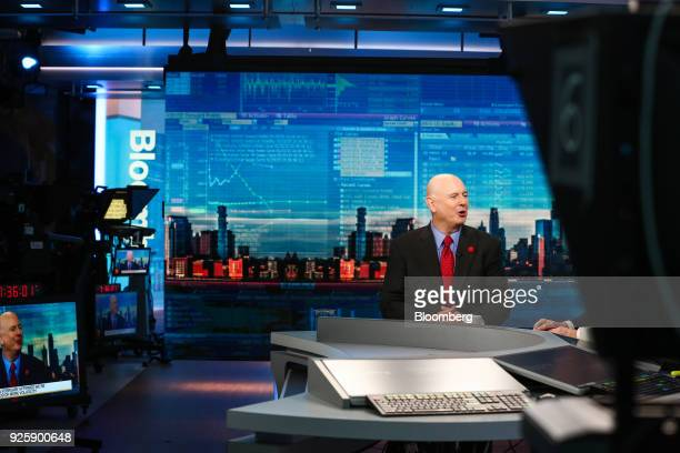 Christopher Ailman chief investment officer of the California State Teachers Retirement System speaks during a Bloomberg Television interview in New...