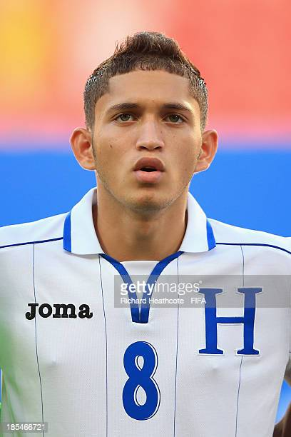 Christopher Alegria of Honduras during the FIFA U17 World Cup UAE 2013 Group A match between Slovakia and Honduras at the Mohamed Bin Zayed Stadium...