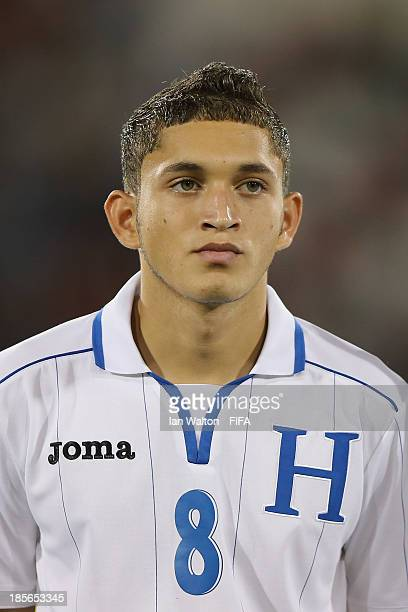 Christopher Alegria of Honduras during the Group A FIFA U17 World Cup match between Honduras and Brazil at Ras Al Khaimah Stadium on October 23 2013...