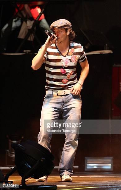 Christopher Alexander Luis Casillas Von Uckermann of the group RBD performs at American Airlines Arena on July 1 2006 in Miami Florida