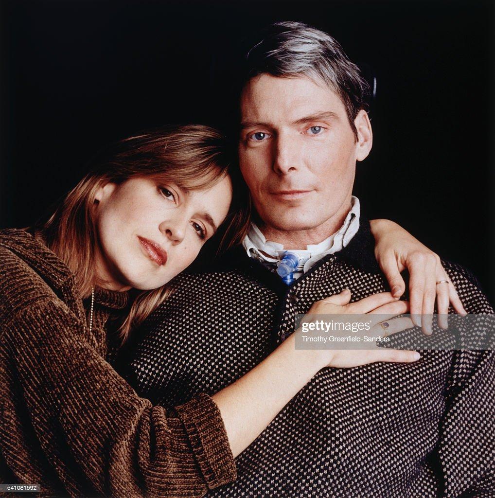 Christopher and Dana Reeve, Life, January 1996 : News Photo