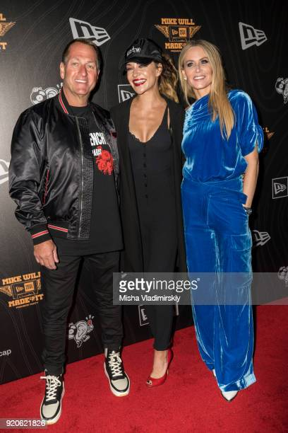 Christopher and Lindsey Koch Ceo and CoOwner of New Era Cap pose with  Jessida Szohr on 429de04e132