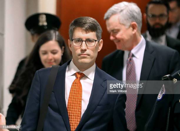 Christopher Anderson career Foreign Service officer and former advisor to Kurt Volker the US special envoy to Ukraine arrives on Capitol Hill to...