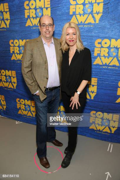 Christopher Ashley and Kelly Devine attend the press day for Broadway's 'Come From Away' at Manhattan Movement and Arts Center on February 7 2017 in...