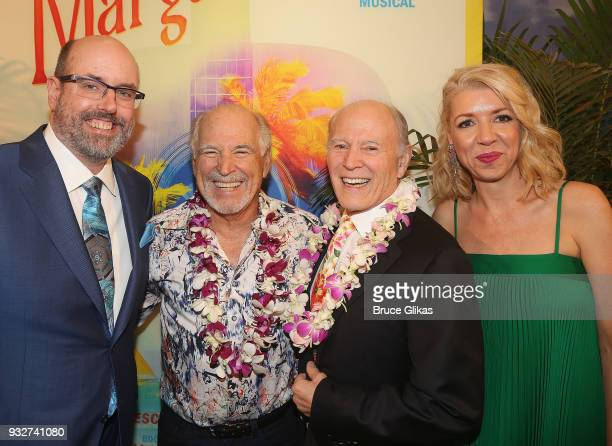 Christopher Ashley Jimmy Buffett Frank Marshall and Kelly Devine pose at the Opening Night of The Jimmy Buffett Musical 'Escape To Margaritaville' on...