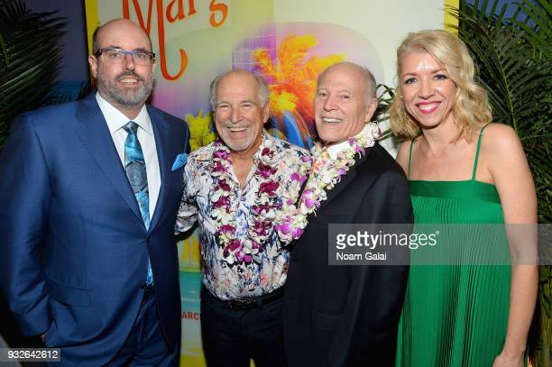 Christopher Ashley Jimmy Buffett Frank Marshall and Kelly Devine attend the Broadway premiere of 'Escape to Margaritaville' the new musical featuring...