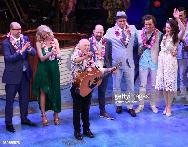 Christopher Ashley Kelly Devine Jimmy Buffett Greg Garcia Mike O'Malley Paul Alexander Nolan and Alison Luff during the the Broadway opening night...