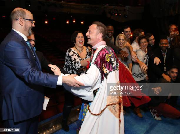 Christopher Ashley Lisa Howard and Matt Allen during the Actors' Equity Gypsy Robe Ceremony honoring Matt Allen for 'Escape To Margaritaville' at The...