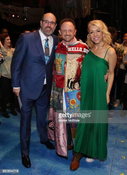 Christopher Ashley Matt Allen and Kelly Devine during the Actors' Equity Gypsy Robe Ceremony honoring Matt Allen for 'Escape To Margaritaville' at...