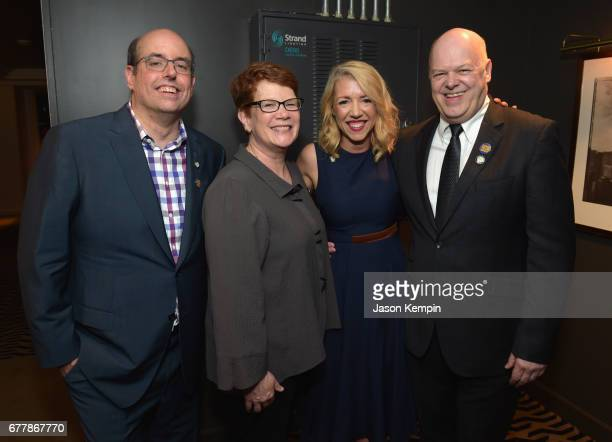 Christopher Ashley Sue Frost Kelly Devine and Randy Adams attend the 2017 Tony Awards Meet The Nominees Press Junket at the Sofitel New York on May 3...