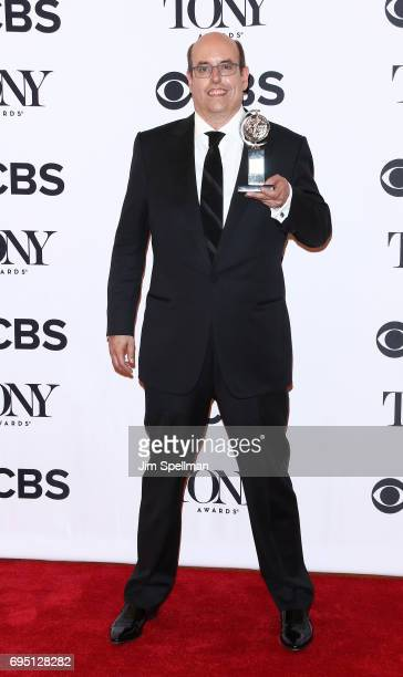 Christopher Ashley winner of the award for Best Direction of a Musical for Come From Away poses in the press room during the 2017 Tony Awards at 3...