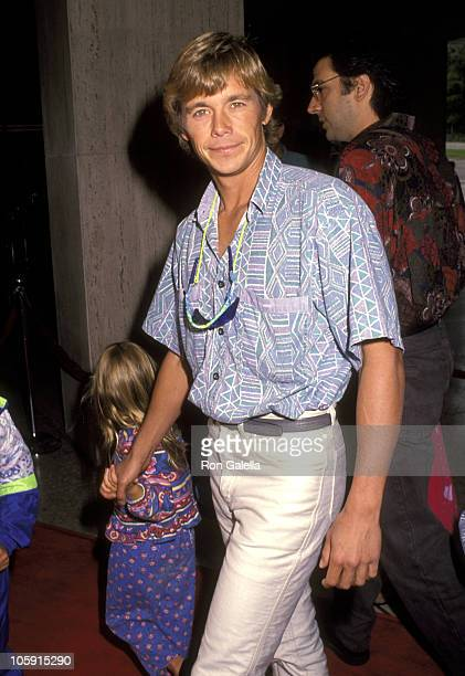 Christopher Atkins and Daughter Brittney Bomann during Premiere of FernGully The Last Rainforest at Cineplex Odeon Theater in Century City California...