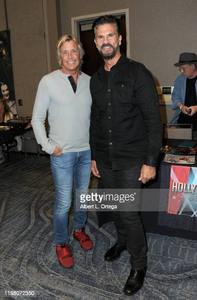 Christopher Atkins and Lorenzo Lamas attend the 2020 Hollywood Show held at Marriott Burbank Airport Hotel on February 1 2020 in Burbank California
